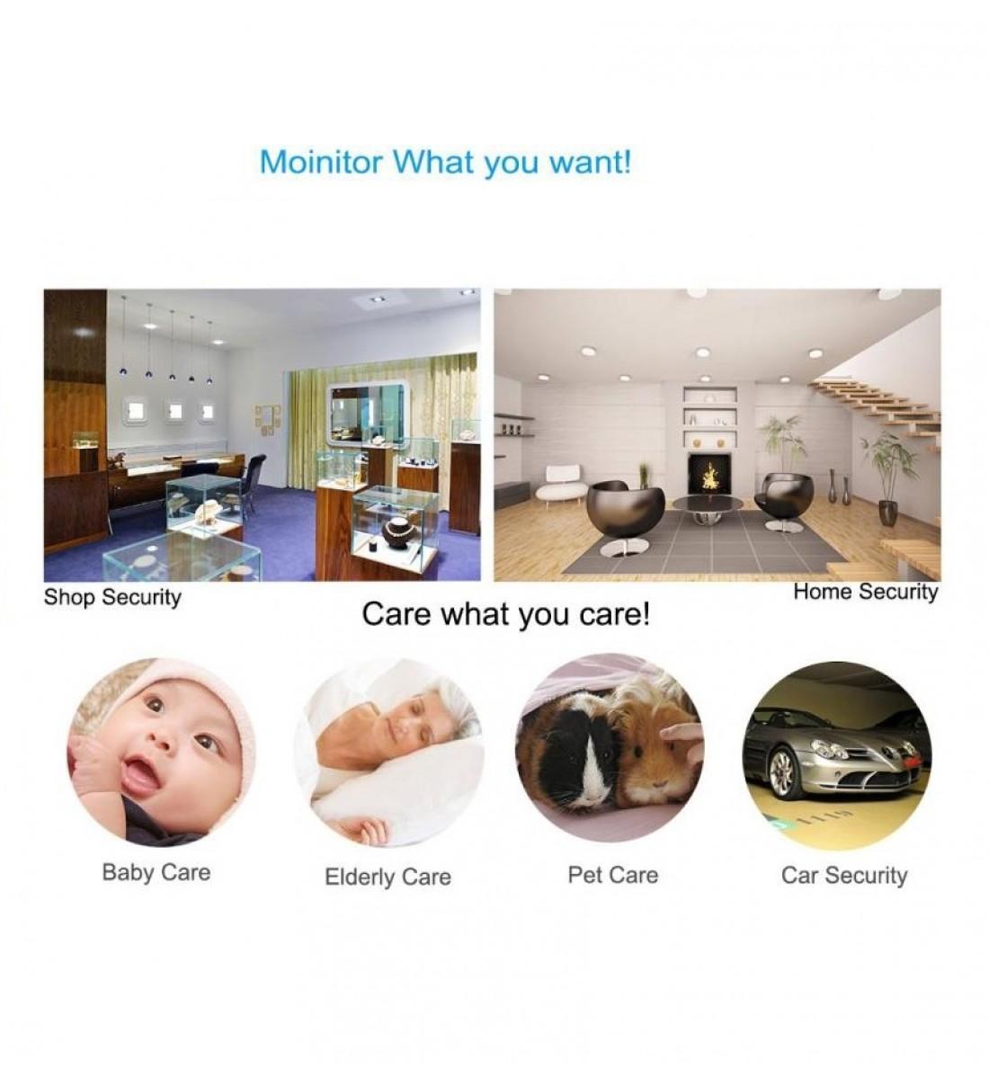 4K Ultra HD WiFi Hidden Spy Camera Mini Camera Wireless Motion Detection Nanny Cam Security System Video Camera Monitor Baby Office spy Cam App Camcorder Kid (4)