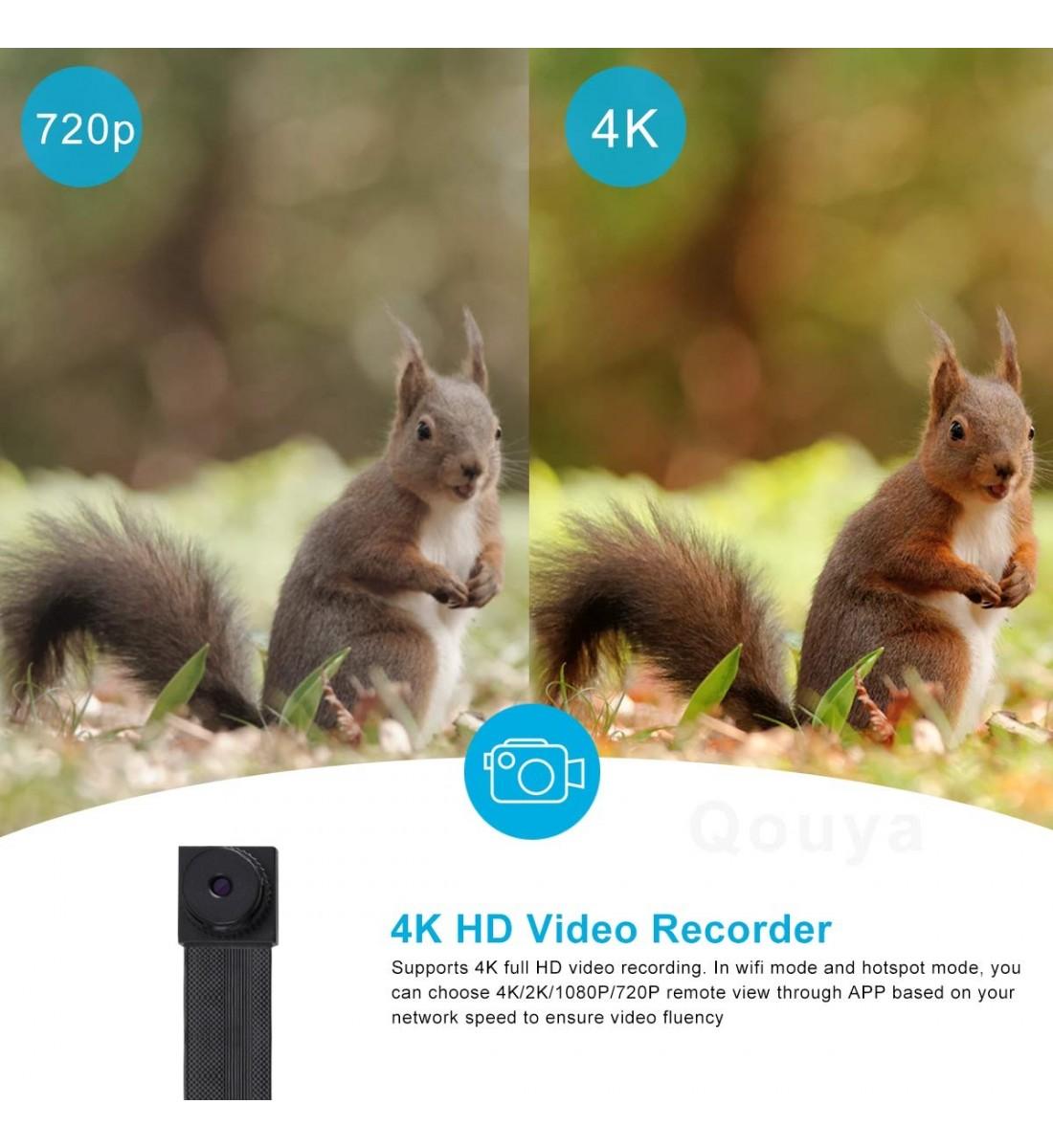 4K Ultra HD WiFi Hidden Spy Camera Mini Camera Wireless Motion Detection Nanny Cam Security System Video Camera Monitor Baby Office spy Cam App Camcorder Kid (5)