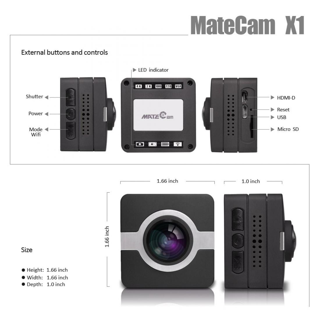 Matecam X1 4K Action Camera WIFI Sports Camera Ultra HD Waterproof Mini DV Camcorder Video Recorder Action Cam (1)