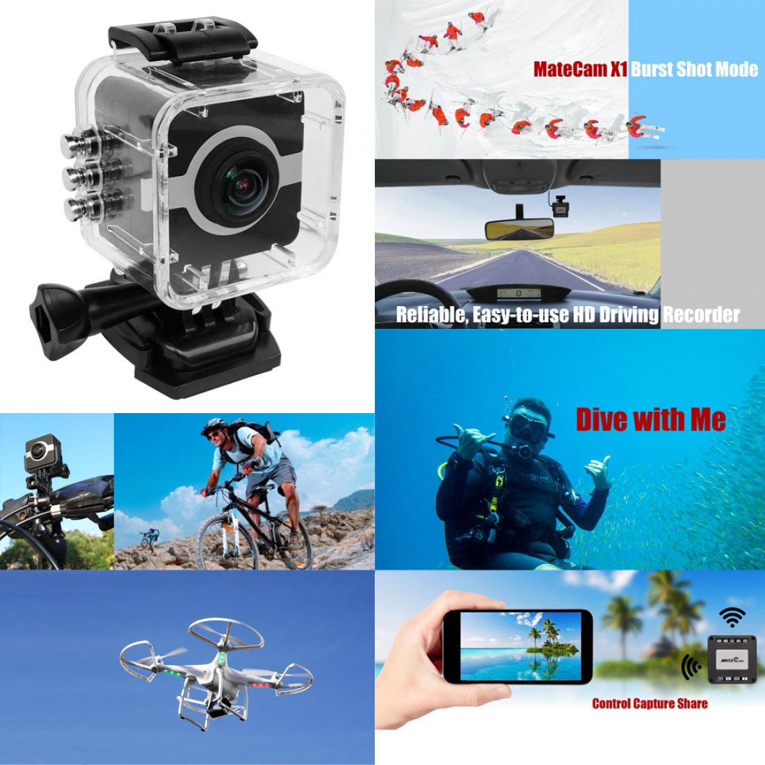 Matecam X1 4K Action Camera WIFI Sports Camera Ultra HD Waterproof Mini DV Camcorder Video Recorder Action Cam (2)