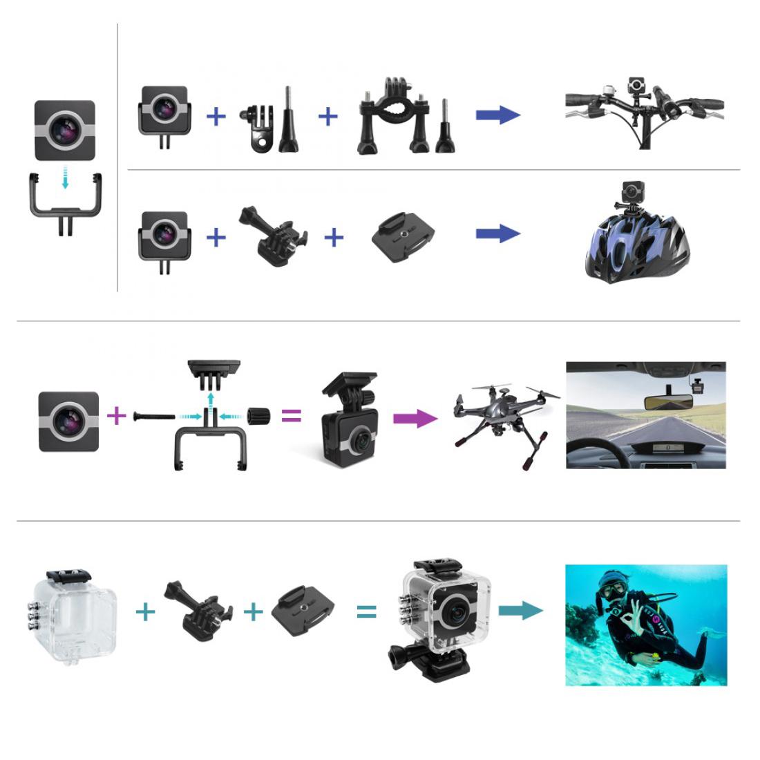 Matecam X1 4K Action Camera WIFI Sports Camera Ultra HD Waterproof Mini DV Camcorder Video Recorder Action Cam (3)