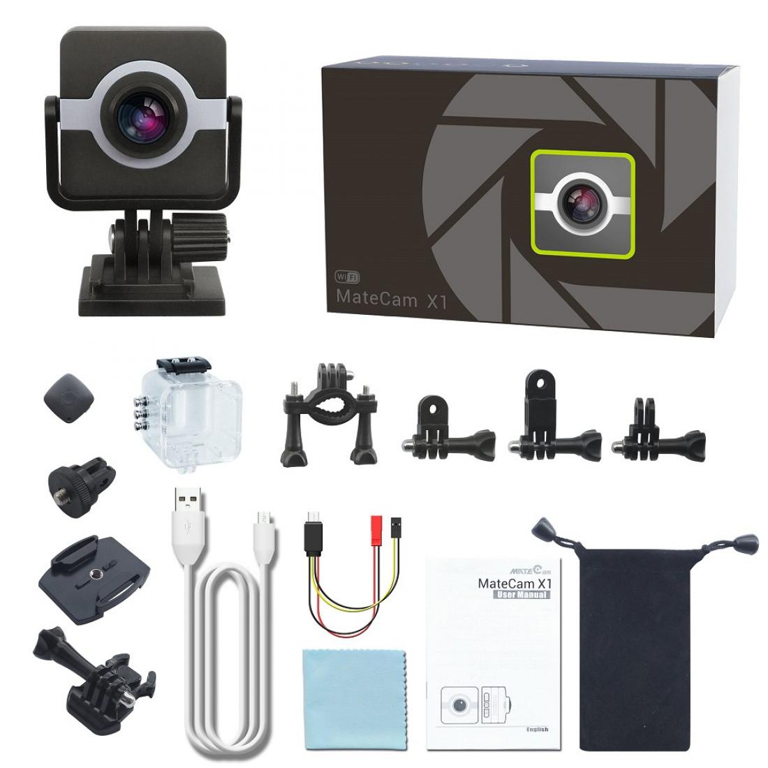 Matecam X1 Car Dashboard Camera Cam recorder WIFI Sports Action Camera 4K-HI Ultra HD Waterproof DV Camcorder 16MP 160 Degree Wide Angle WIFIG-SensorGyro StabilizationMotion DetectionRemote control RC cam Bike Helmet Cam  ( (4)