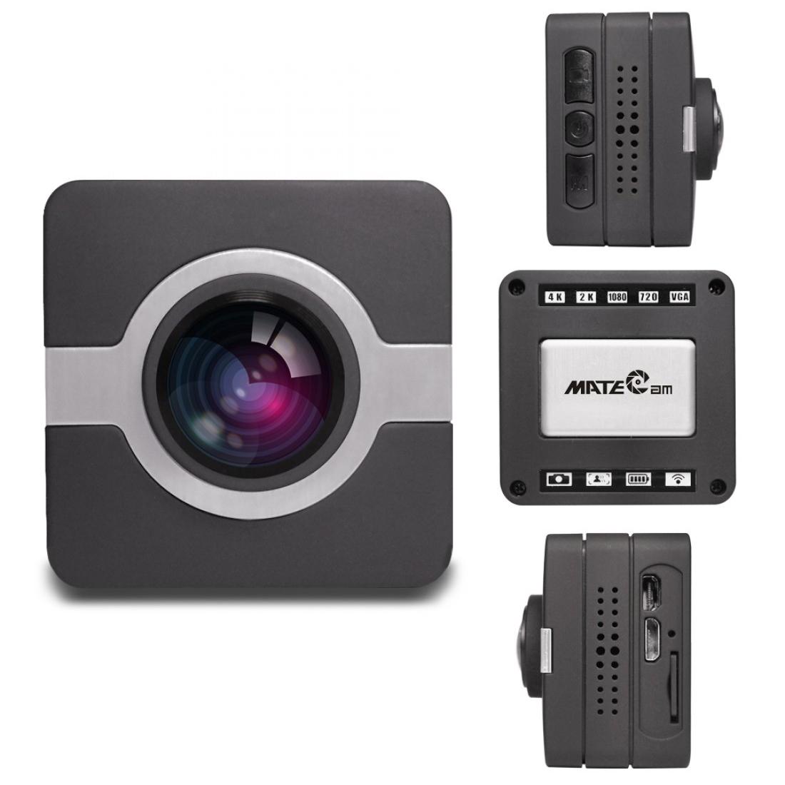 Matecam X1 Car Dashboard Camera Cam recorder WIFI Sports Action Camera 4K-HI Ultra HD Waterproof DV Camcorder 16MP 160 Degree Wide Angle WIFIG-SensorGyro StabilizationMotion DetectionRemote control RC cam Bike Helmet Cam  ( (5)